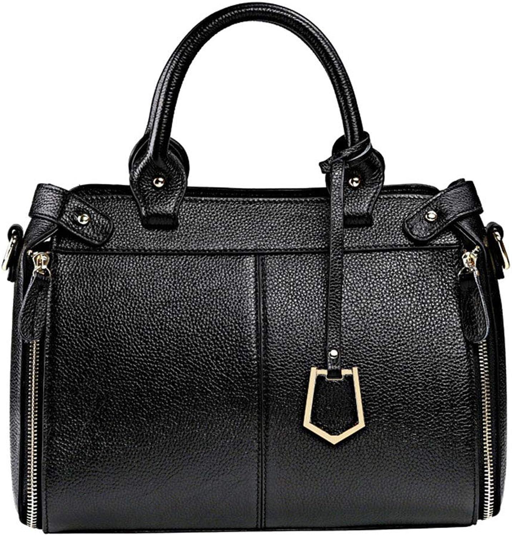 Igspfbjn Damenmode Leder - Handgefertigte Umhängetasche (Farbe   schwarz) B07NQ4P5RR
