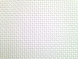 "59""x 36"" 11ct White Counted Cotton Aida Cloth Cross Stitch Fabric"