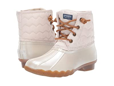 Sperry Kids Saltwater Boot (Little Kid/Big Kid) (Pearlized Ivory) Girls Shoes