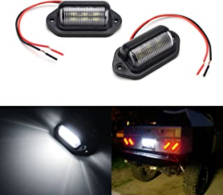 iJDMTOY (2) 12V Add-On 6-SMD LED Lamps For Truck SUV Trailer Van As License Plate Lights, Step Courtesy Lights, Dome/Cargo Lights or Under Hood Lights, etc