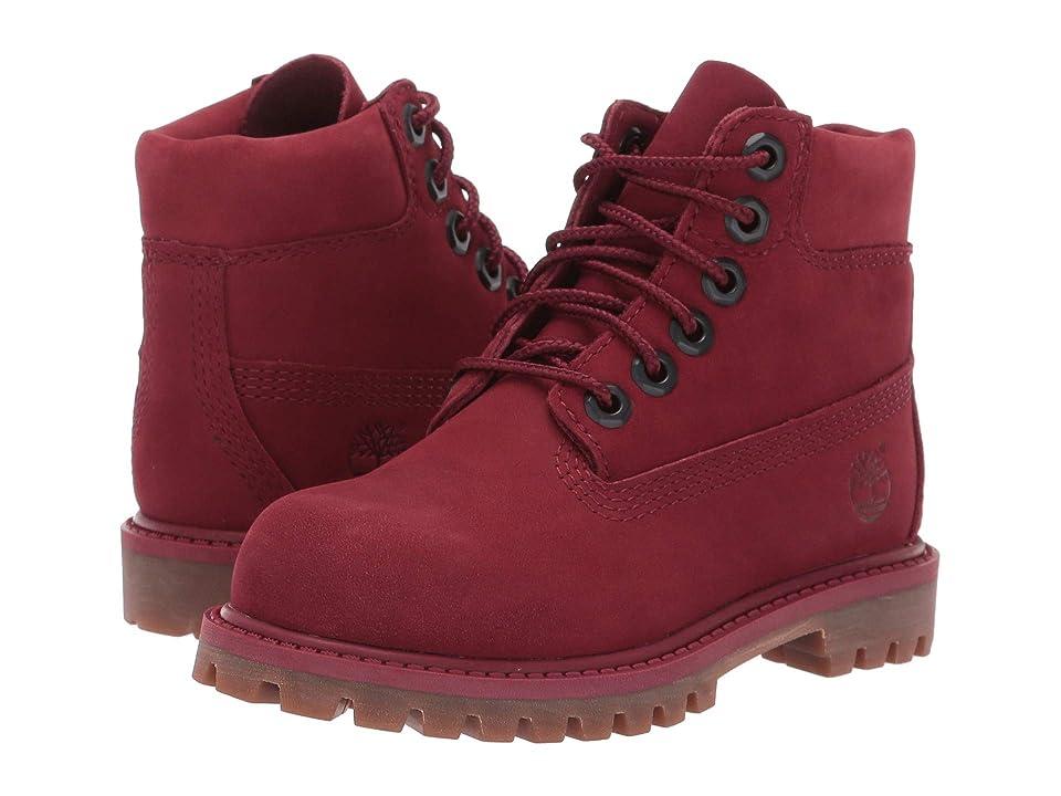 Timberland Kids 6 Premium Waterproof Boot (Toddler/Little Kid) (Burgundy Nubuck) Kids Shoes