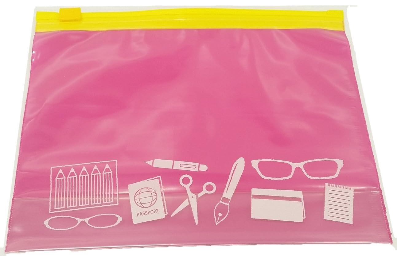 幸福配分根絶するオルディ 保存袋 スライダ ポリ袋 ピンク 縦20.5×横15cm マチ3cm 厚さ0.08mm ジッパー インバッグ 整理に IS-IB-5 5枚入