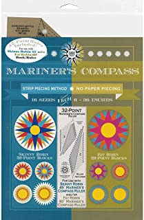 Robin Ruth Design RR164 Mariner's Compass Ruler&Bk