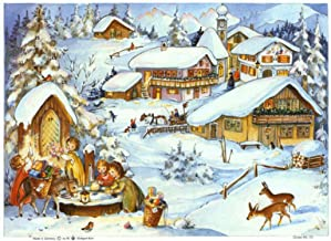 Children with Donkey Advent Calendar Approx 8.25