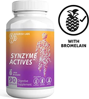 Digestive Enzymes + Bromelain Decreases Bloating and Aids Digestion. Reduces Inflammation and Muscle Soreness. Helps Joint Pain and Athletic Recovery.