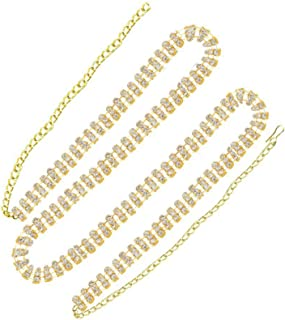 Confidence Designer Gold Plated Kamarbandh for Saree, Women Accessories Jewellery, Golden, 20 Gram, Pack of 1