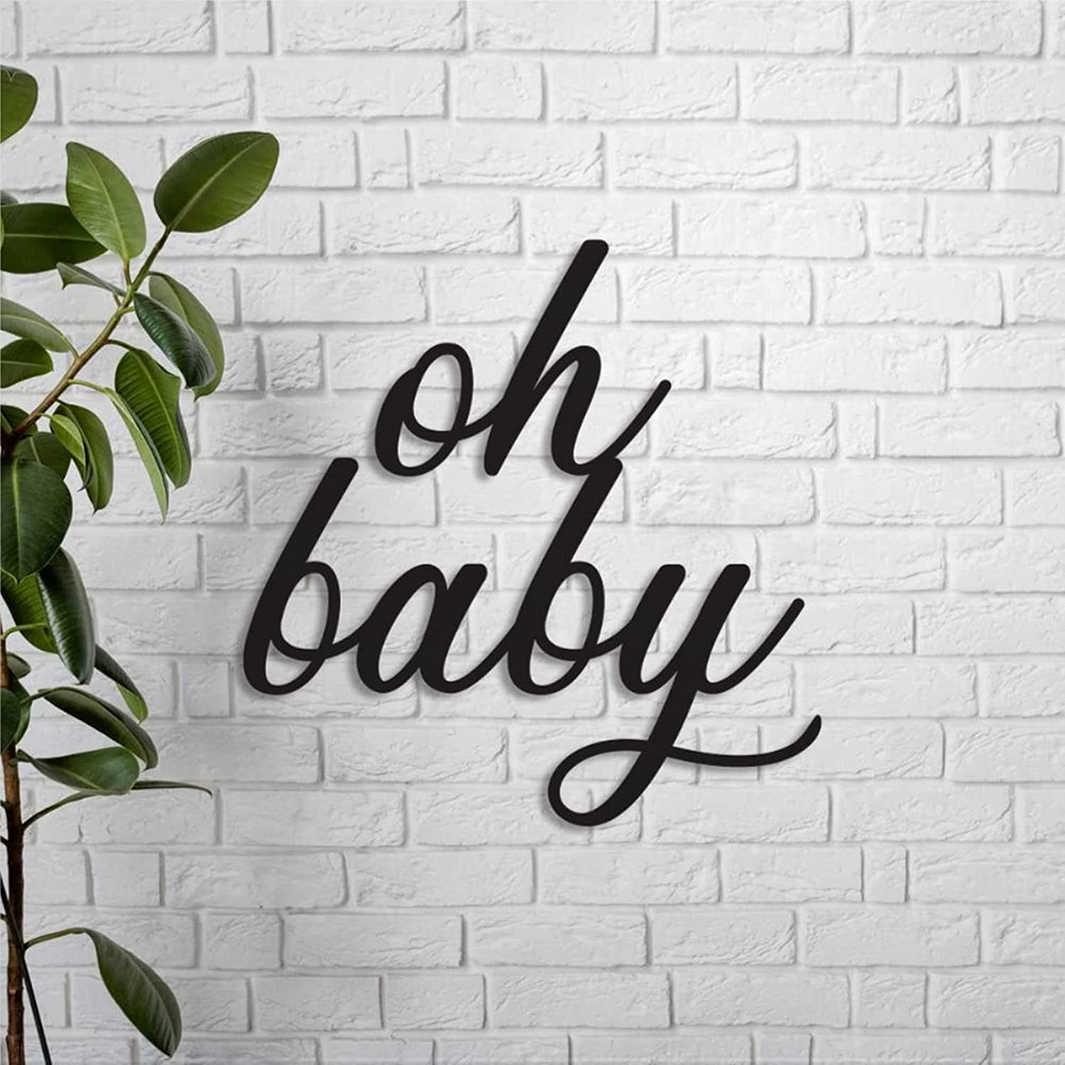 Oh Baby sign Word Cut Overseas parallel Year-end annual account import regular item Nurser Shower Out Laser