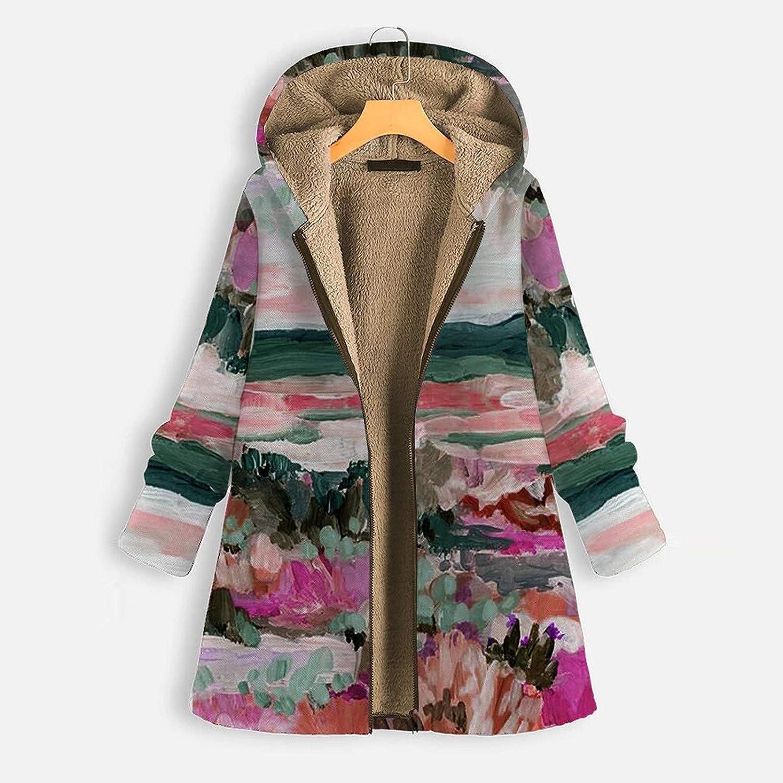 OIKAY Plus Größe Damen Mit Kapuze Langarm Baumwolle Leinen Flauschigen Pelz Reißverschluss Outwear Mäntel Ym B