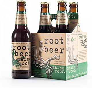 Maine Root Hand Crafted Root Beer Soda, 12 fl oz (24 Glass Bottles)