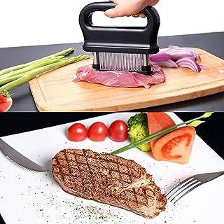 Meat Tenderiser with Cleaning Brush, 48 Stainless Steel Ultra Sharp Needle Blade Tenderiser for Tenderising Steak, Beef wi...