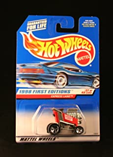 Hot Wheels 1998 - Mattel Express Lane (Red Racing Shopping Kart) - 1998 First Editions #37 of 40 Cars - 1:64 Scale Die Cast Metal - MOC - Limited Edition - OOP - Collectible