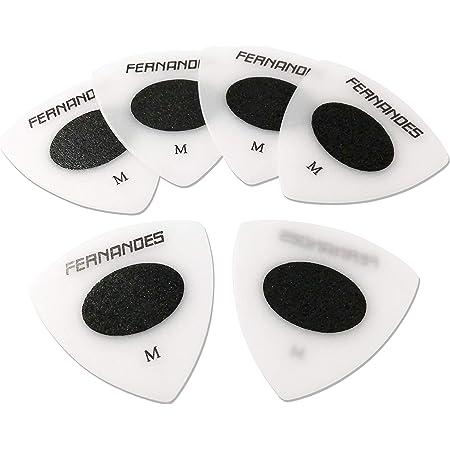 FERNANDES スリップレス ギターピック P-100SL/Medium トライアングル 白 6枚セット