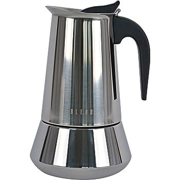 Ideal casa Cafetera 9 Tazas Acero Inoxidable con Fondo inducción ...