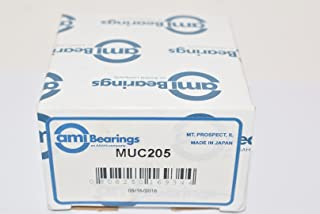 AMI: MUC205, 25MM STAINLESS NORMAL WIDE SET SCREW BEARING INSERT, FACTORY NEW!