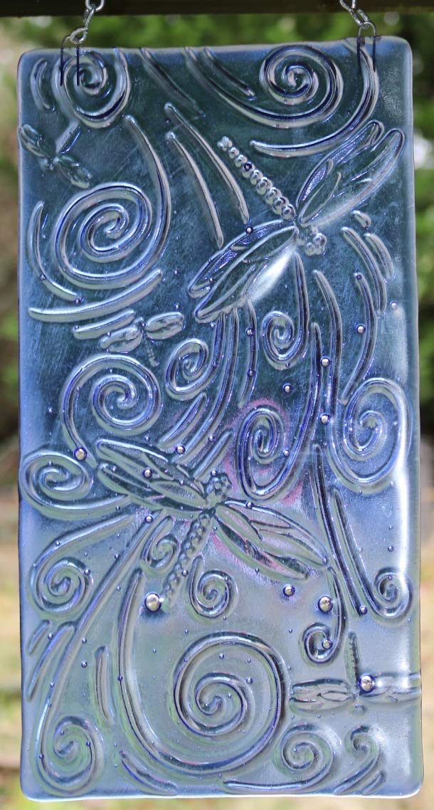 depot Blue Dragonfly Stained Glass Suncatcher Popular products Art Window Large Decor
