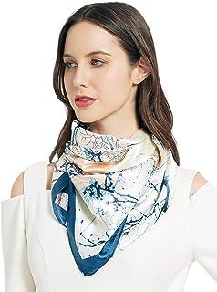 AQUENSO Women's Satin Silk Head Scarf for Sleeping Wrap 35'' Hair Scarf Bandanas