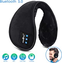 Bluetooth Ear Muffs for Men Women Girls Kids Ear Warmers Headphones, Gifts for Christmas, LC-dolida Winter Bluetooth Ear Warmers Foldable Earmuffs Wireless Music with Microphone, Black