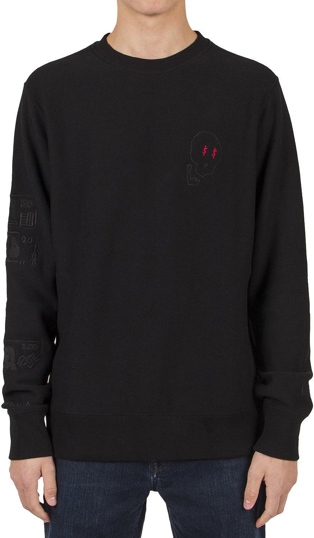 Volcom X Lister Crew Sweater Large Black