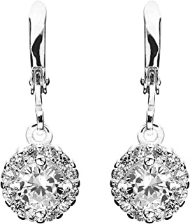 Laurelai on a Summer Night, Silver-Plated, 4 Ct Earrings
