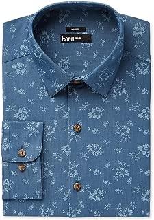 Mens Slim Fit Floral Print Dress Shirt
