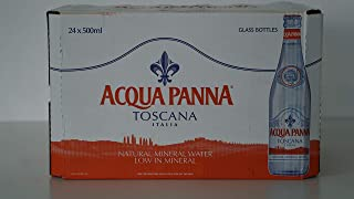 Acqua Panna Glass Bottle Mineral Water - Pack of 24 Pieces (24 x 500ml)