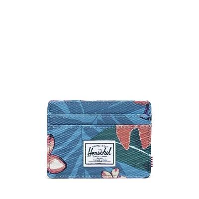 Herschel Supply Co. Charlie RFID (Summer Floral Heaven Blue) Wallet Handbags