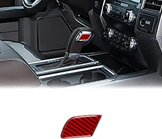 YAMUDA Compatible with Carbon Fiber Car Gear Head Up Shifter Decoration Sticker Interior Accessories for Ford F150 2015 20...