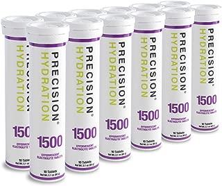Precision Hydration Lite Electrolyte Drink - Multi Strength Effervescent Hydration Tablets - Combats Cramp - Low Calorie, Gluten Free, Vegan/Vegetarian Friendly (12 Tubes, 1500mg/L - Purple Tube)