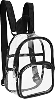 Clear Mini Backpack Stadium Approved, Water proof Transparent Backpack for Work, Security Travel, Concert & Sport Event