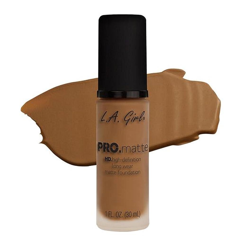 詳細にピルファー育成LA Girl PRO.mattte HD.high-definition long wear matte foundation (GLM682 Cafe)