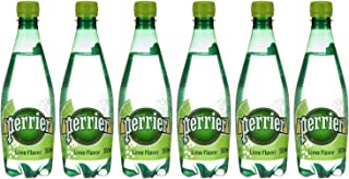 Perrier Sparkling Natural Mineral Water With Natural Lime Flavor Pet Bottle, 6X500ml