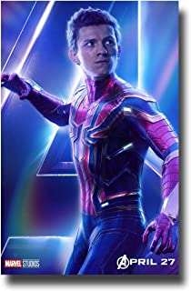 Spider-Man Tom Holland Poster 16x25 inches Movie Promo for Avengers Infinity War Print Sticker Retro Unframed Wall Art Gifts 40x63cm