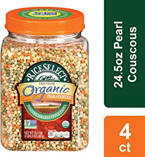RiceSelect Organic Tri-Color Pearl Couscous, 24.5 oz (Pack of 4)