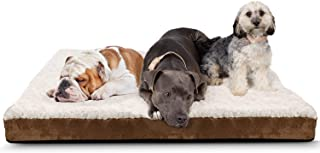 Paws & Pals Orthopedic Pet Bed Foam-Mattress for Dogs & Cats - Quilted Rectangular Fits Crate Carrier - Extra Large 44 Lon...