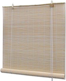 vidaXL Persiana/Estor Enrollable de bambú Natural 80 x 160 cm