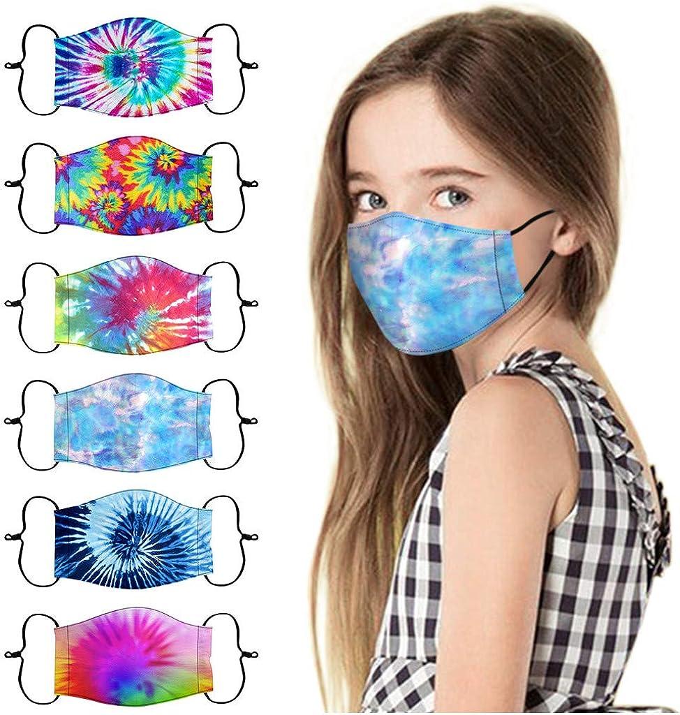 Kids Face 40% OFF Cheap Sale Masks Washable 5 Breathable Bargain 6Pcs Childrens Reuseable