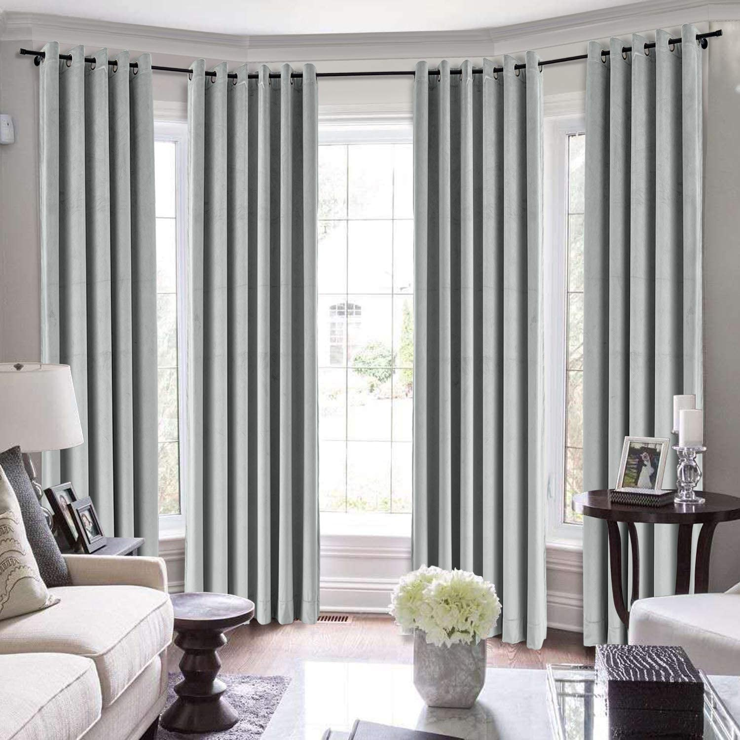 TWOPAGES Heavyweight Blackout Nickel Curtain Sales Extra Brand new Long Grommet