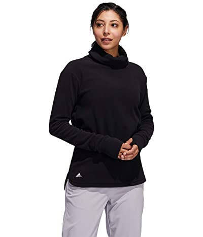 adidas Golf Polar Fleece Mock Neck Sweatshirt (Black) Women
