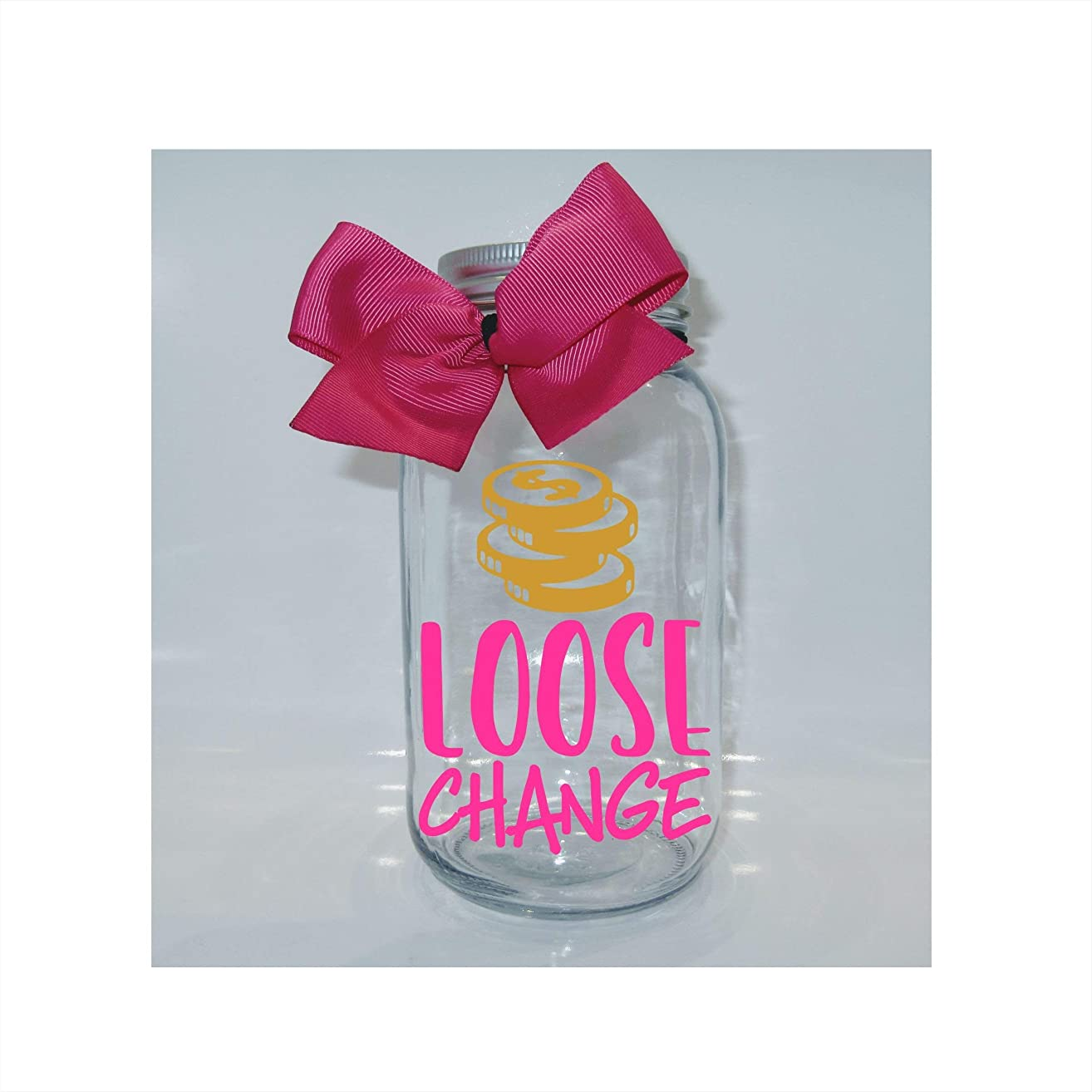 Loose Change Mason Jar Bank - Coin Slot Lid - Available in 3 Sizes
