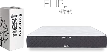 product image for FLIP by Nest Bedding, Amazon-Exclusive Double Sided Hybrid Bed in a Box, Cooling Gel Foam and Caliber Coil, CertiPUR-US, Made in The USA