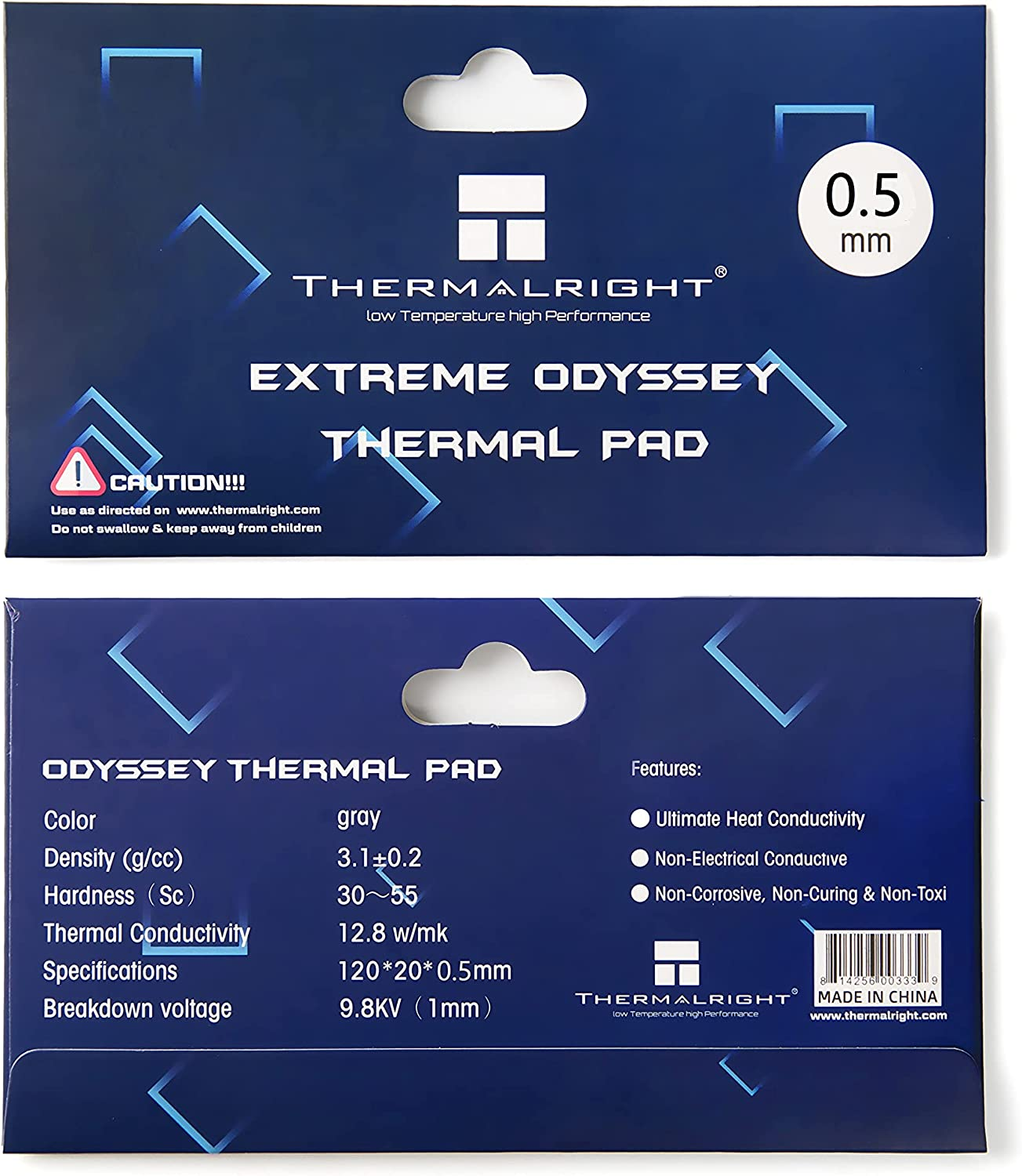 Thermalright Odyssey Thermal Pad Popular 12.8 W mK R Heat Quality inspection 120x20x0.5mm