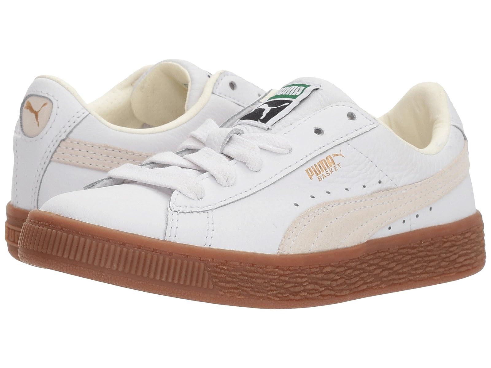 Puma Kids Basket Classic Gum Deluxe (Little Kid)Atmospheric grades have affordable shoes