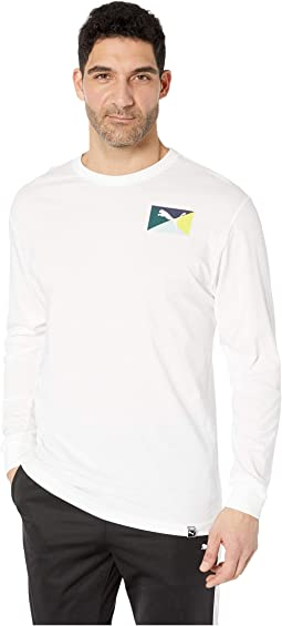 Flag Vertical Long Sleeve Tee