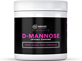 Nature's Pure Edge D-Mannose Supplement Flavored with Real Chicken for Dogs and Cats. Use for Immediate and Preventative Treatment of Bladder and Urinary Tract Infections UTIs. 115 Grams.
