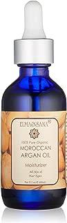 Elma and Sana 100 % Pure Organic Argan Oil Cold Pressed Virgin, Golden, 2 Ounce