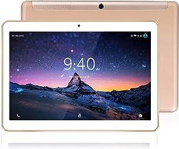 Tablet 10 Pulgadas 4G LTE WiFi BEISTA-Tableta Android 9.0,4GB RAM 64GB Memoria,2GHz CPU de alta velocidad,Ocho nucleos,GPS Tpye-C,Dobles SIM y TF,Cuerpo de metal-Oro