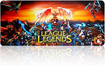 "Extended Gaming Mouse Pad Large for League of Legends All Heros,Keyboard and Mouse Combo Pad Desk Mat (27.5"" x 11.8"" x 0.1"")"