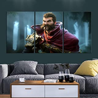 FGHMTDE Canvas painting 3 pieces of League of Legends fantasy game living room decoration oil painting color painting prin...