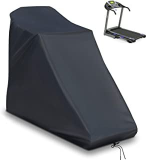 Aidetech Non-Folding Treadmill Cover, Upgrade Running Machine Cover, Dustproof Waterproof Heavy-Duty Fitness Equipment Treadmill Protective Cover for Indoor & Outdoor (Black,78 x 37 x 59 inch)