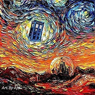 Starry Night Tardis print van Gogh Never Saw Gallifrey by Aja choose size and type of paper